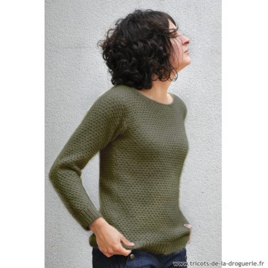 modèle de pull femme col rond