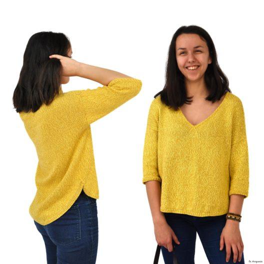 Tricotez le tricot femme Bambara taille unique, facile et rapide !