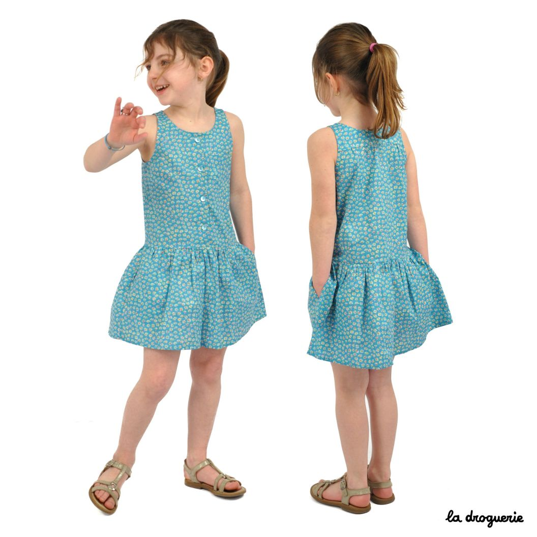 Patron Couture Robe Enfant Place Massena La Droguerie