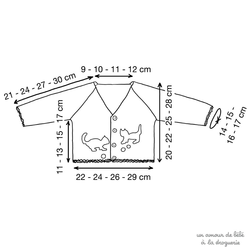 Le Cardigan Tout Doux Les Chatons Kit à Tricoter