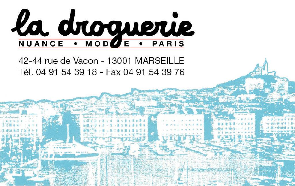 La Droguerie à Marseille - Carte de visite