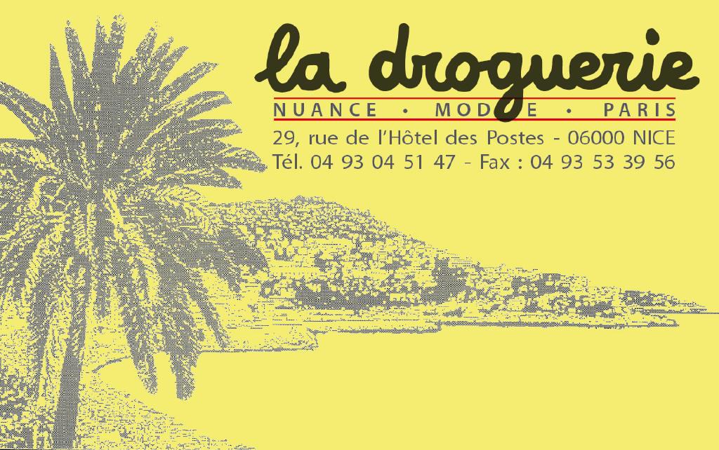 La Droguerie à Nice - Carte de visite