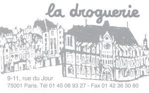 La Droguerie à Paris - Carte de visite