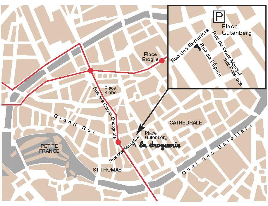 La Droguerie à Strasbourg - Plan