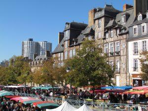 Place des Lices à Rennes