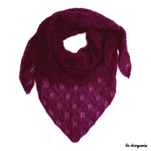 tricoter un grand chale pour femme saint émilion