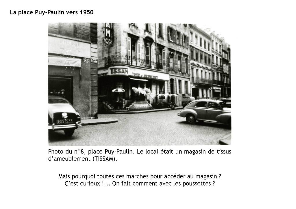 La place Puy-Paulin vers 1950