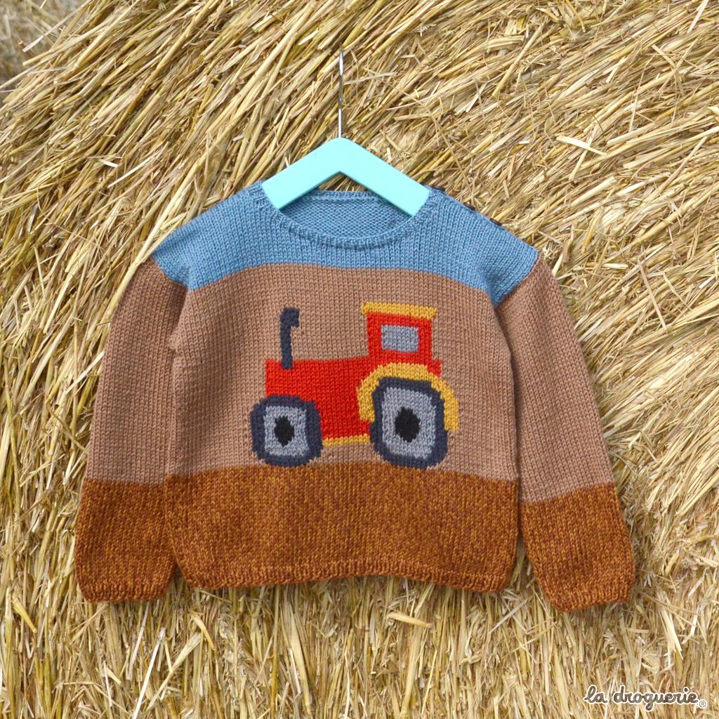 71adc2b0605e4 Fiche du pull tracteur enfant du 2 au 6 ans