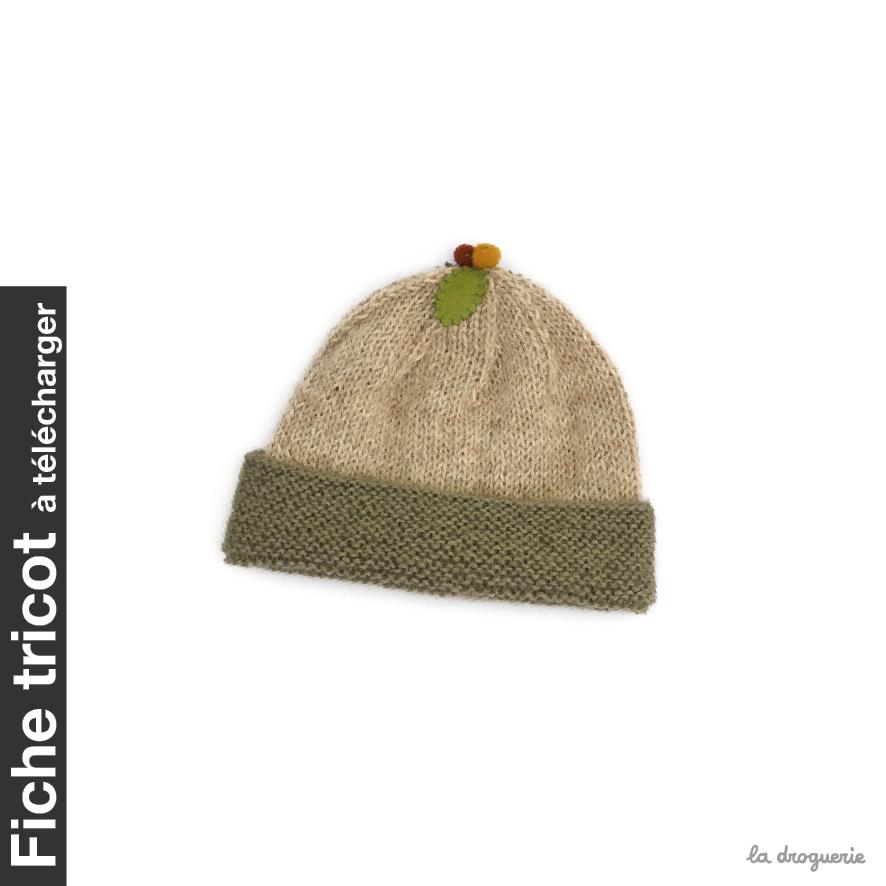 Fiche du bonnet layette Écureuil   La Droguerie bcbaa8c1b7d