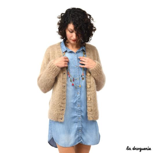 Modèle tricot débutant femme simple | La Droguerie