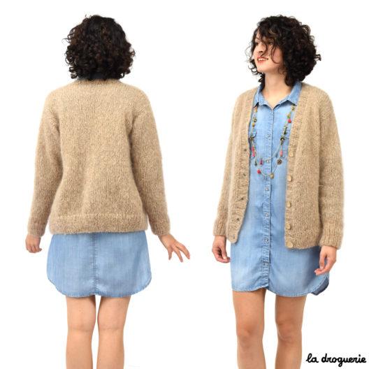 Veste droite femme manches longues à tricoter | La Droguerie