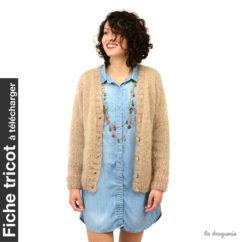 Fiche tricot à télécharger de la veste Rue de Buci