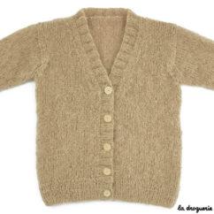 Veste femme tricotée en jersey et côtes 1/1 | La Droguerie