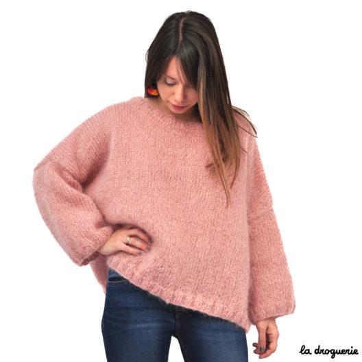 Kit tricot femme avec le mohair et son patron