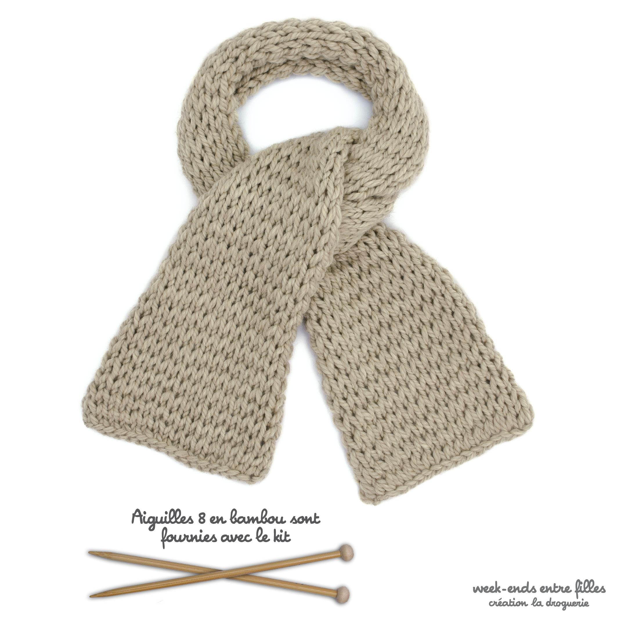 bf8587cddaad On apprend à tricoter   l écharpe rivière   La Droguerie