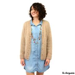 Veste femme chaude en mohair à tricoter | La Droguerie