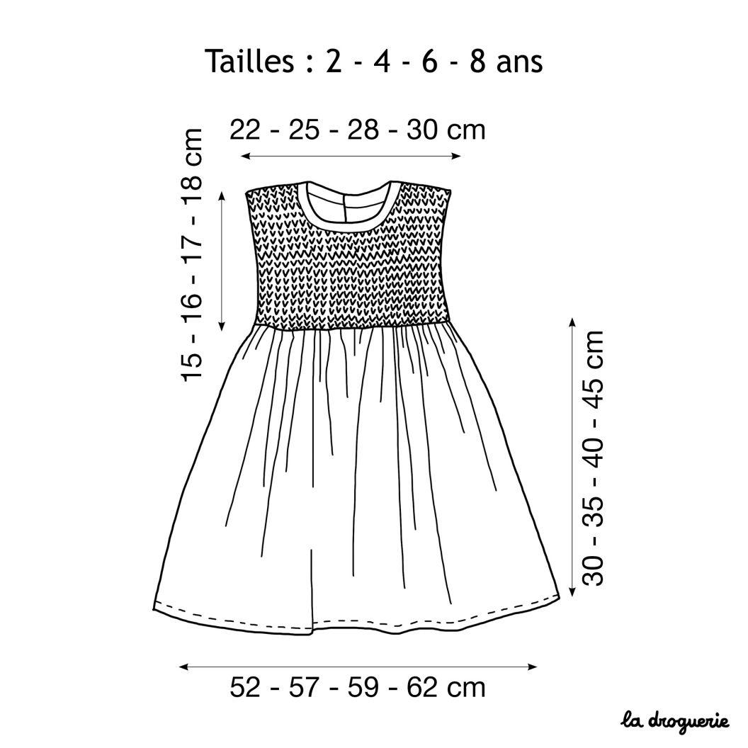 Patron Couture Tricot Robe Enfant Valreas La Droguerie