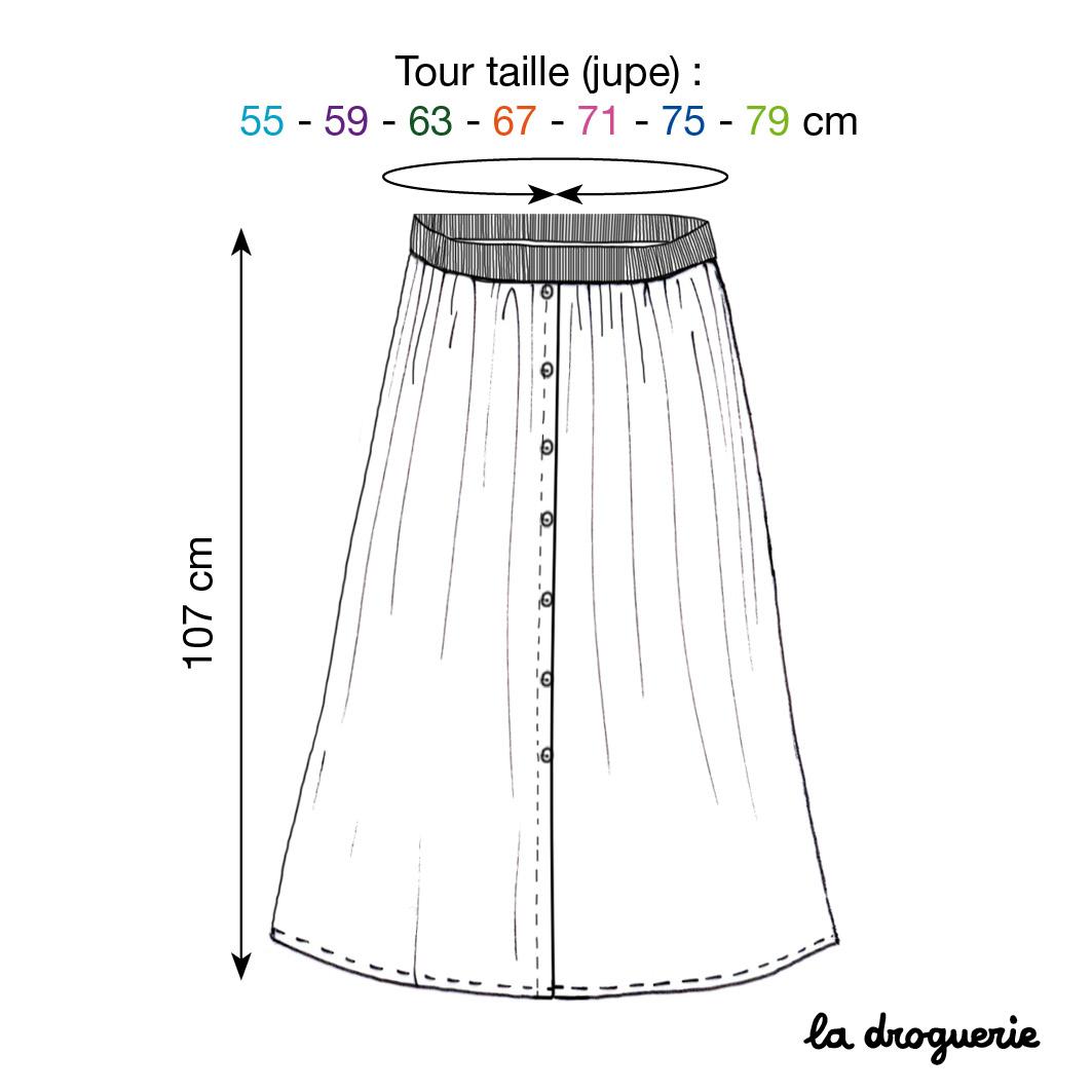 ec1592336da695 Le patron de la jupe longue
