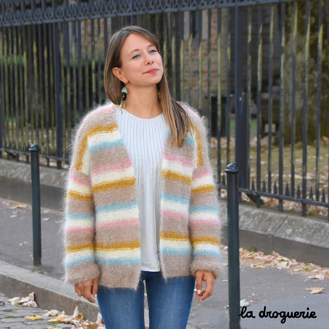 Petite veste a tricoter