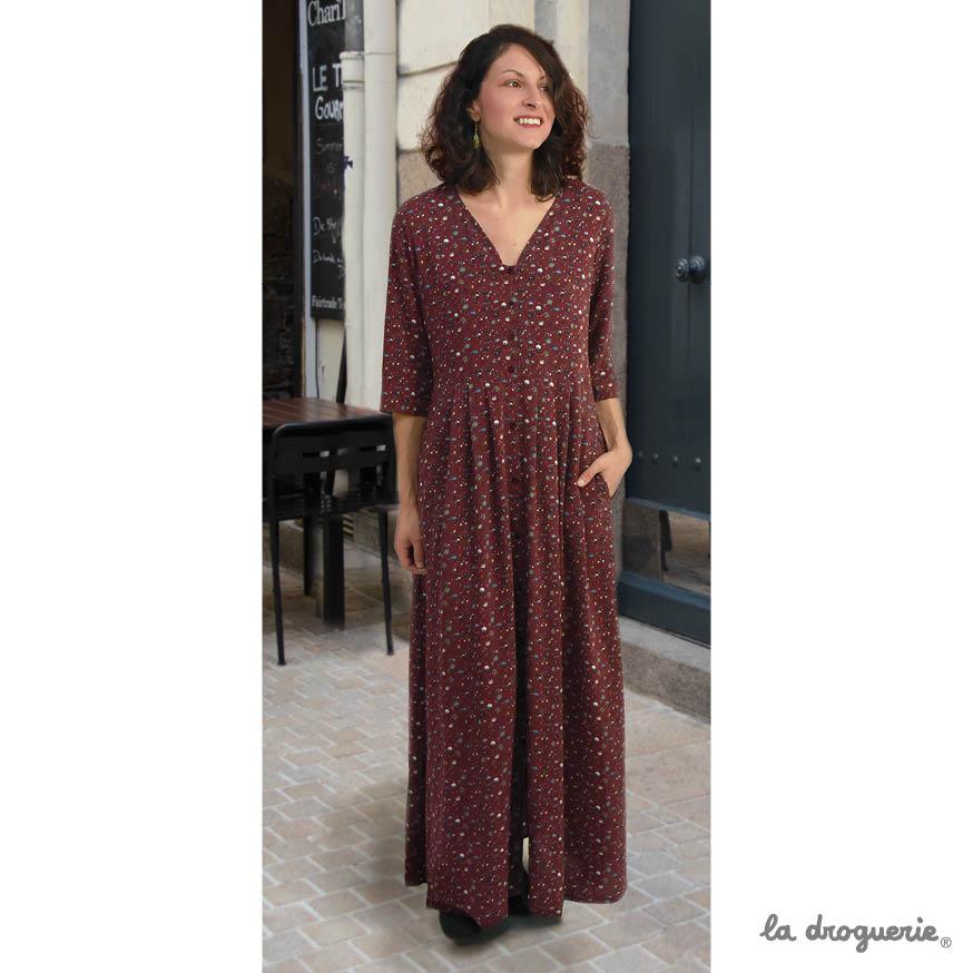 ddd93d90d070 Le patron de la robe longue « Ménilmontant »