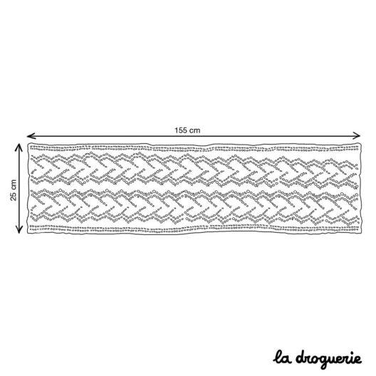 Schéma de l'écharpe au point ajouré