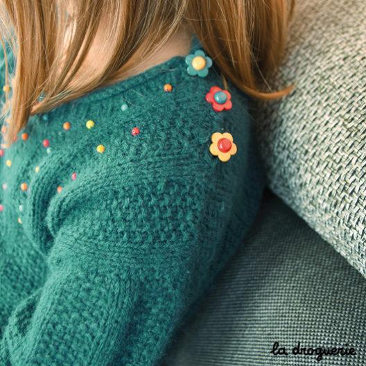 pull à tricoter pour enfant facile La Droguerie