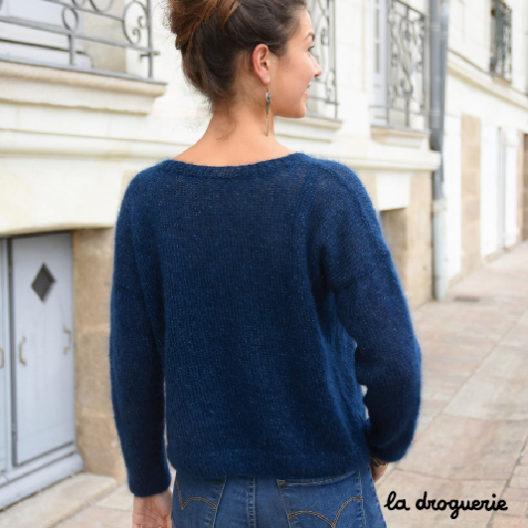 Un pull facile à tricoter au point jersey et en côtes La Droguerie