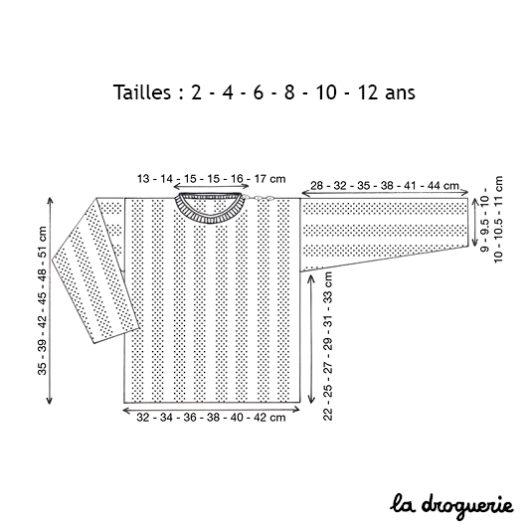 Choisissez la taille du pull Boulevard des Batignolles La Droguerie