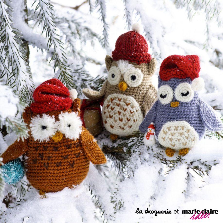 Les Chouettes Au Crochet La Droguerie Avec Marie Claire Idées Kit à Tricoter