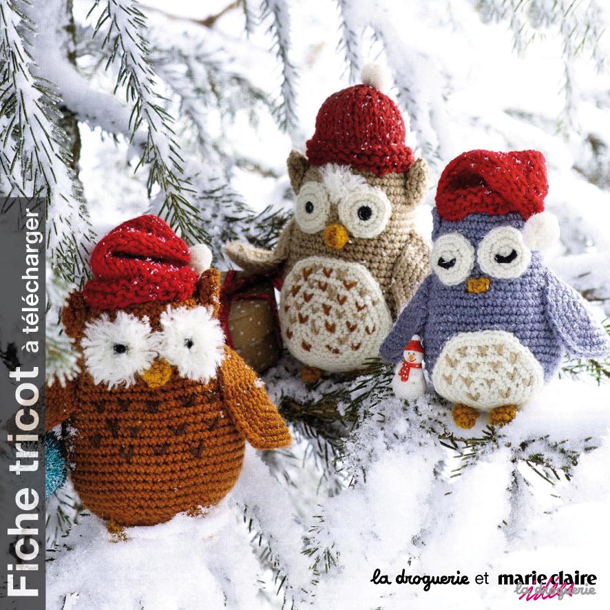 Fiche des chouettes au crochet La Droguerie avec Marie Claire Idées edb175c4c70