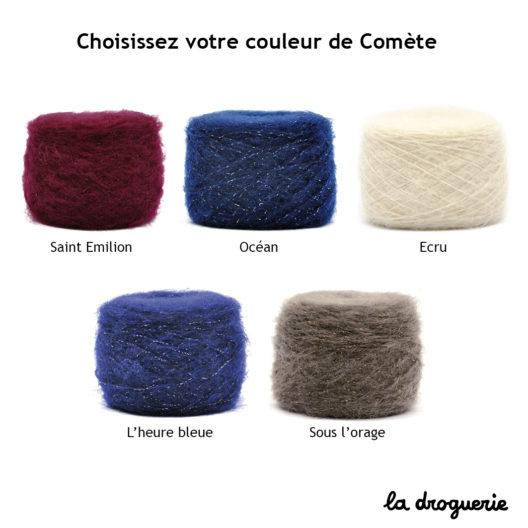 Les couleurs de Comète pour tricoter le kit tricot femme