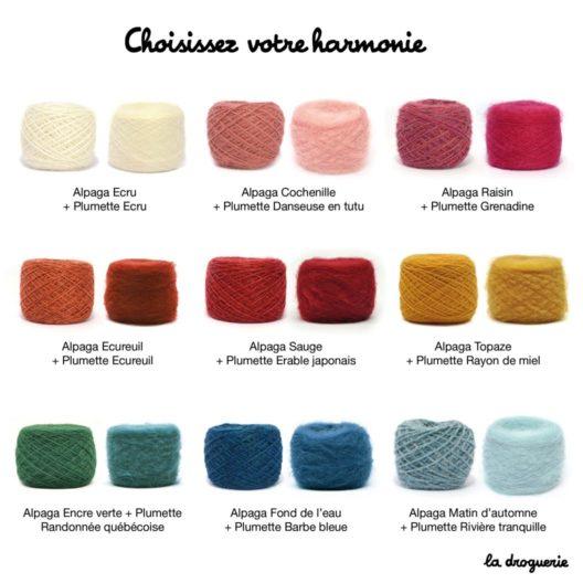 harmonie de laine Alpaga + Plumettes