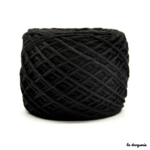 tricoter mini.b 100% pure laine peignée couleur Basalte (noir)