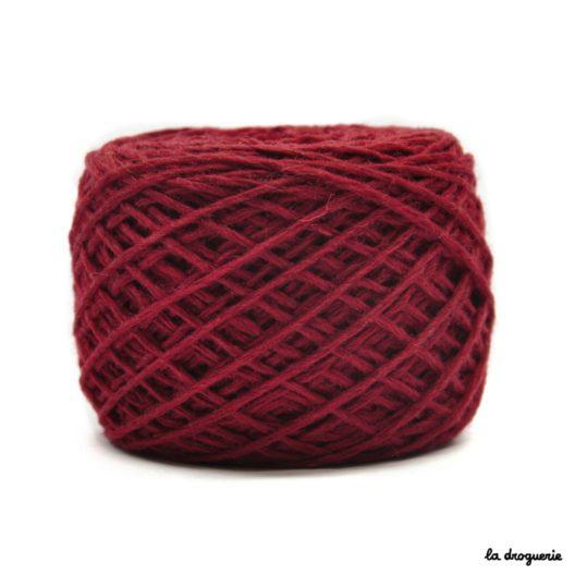 tricoter mini.b 100% pure laine peignée couleur bourgogne (bourdeaux)