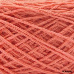 tricoter laine mini.B couleur blush ( rose corail)