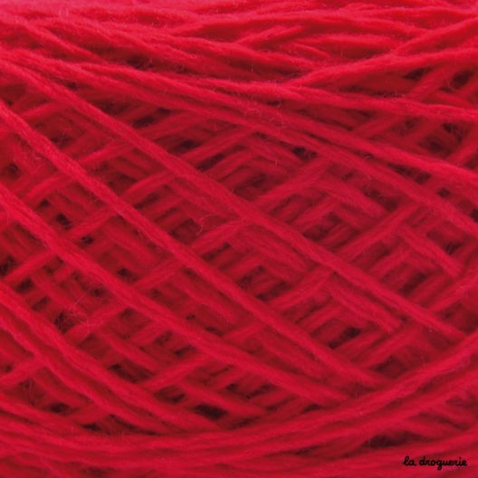 tricoter laine mini.B couleur Braise (rouge)