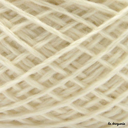 tricoter laine mini.B couleur brebis (ecru)