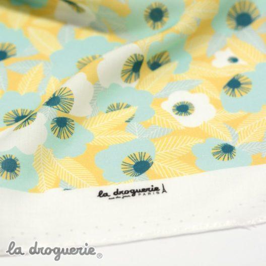 Tissu en rayonne - motif exclusif La Droguerie.