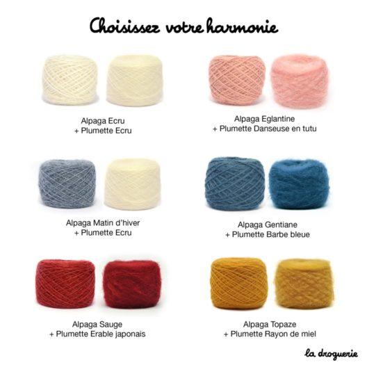 Harmonies de couleur - Pull Place des Vosges Alpaga Plumette