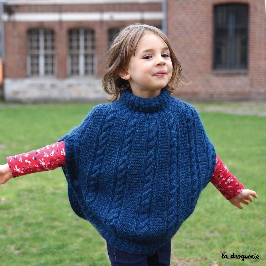 Le Poncho Enfant Quimper Kit à Tricoter