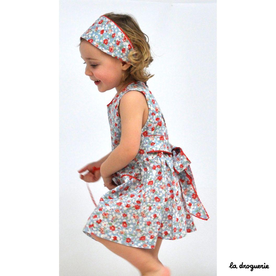 Patron Couture Robe Enfant Vetheuil La Droguerie