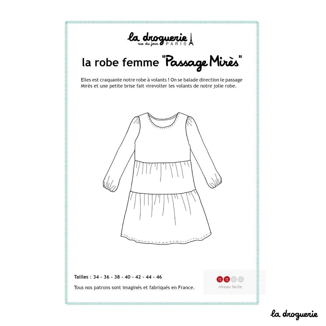 Patron Couture La Robe A Volant Femme Passage Mires La Droguerie